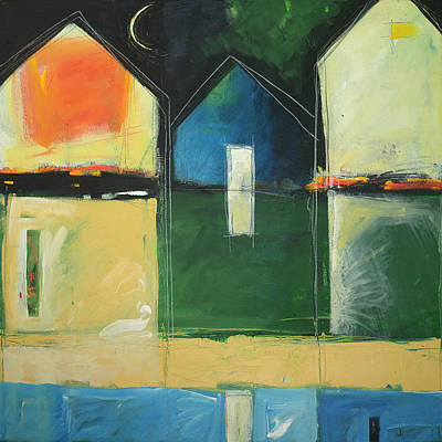 Painting - Houses By The River by Tim Nyberg