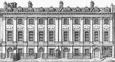 Old Door Drawing - Houses Great Queen Street, 1817 by George the Elder Scharf
