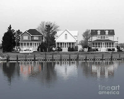 Photograph - Houses In Black And White by Dawn Gari