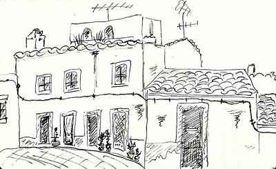 Houses In Elvas Original by Chani Demuijlder