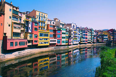 Photograph - Houses In Girona Spain by Yulia Kazansky