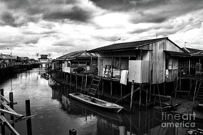 Photograph - Houses In Kalimantan by Charuhas Images