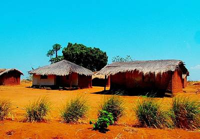 Photograph - Houses In Malawi by Dora Hathazi Mendes