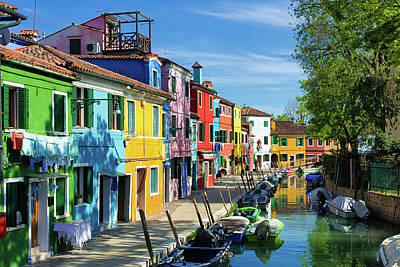 Photograph - Houses In Many Colors Burano Venice Italy by Matthias Hauser