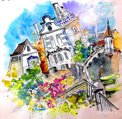 Portugal Art Painting - Houses In Ponte De Lima by Miki De Goodaboom