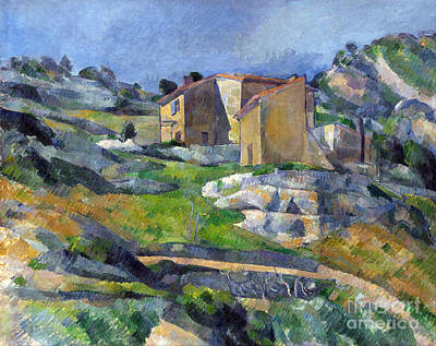 Estaque Painting - Houses In Provence, The Riaux Valley Near L'estaque by Cezanne