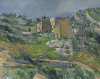 Estaque Painting - Houses In Provence - The Riaux Valley Near L'estaque by Paul Cezanne