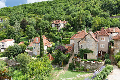 Photograph - Houses In Saint Circ Lapopie In France by Semmick Photo