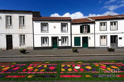 Houses In The Azores Art Print by Gaspar Avila