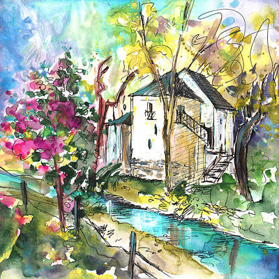 Painting - Houses In The Gorges Du Tarn by Miki De Goodaboom