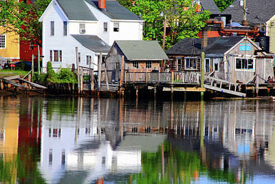 Photograph - Houses In The Harbor by Brian Pflanz