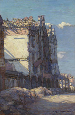 Painting - Houses In The Place Hotel De Ville, Arras by Gyrth Russell