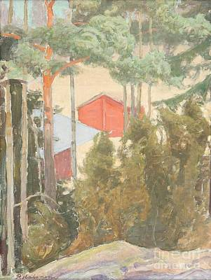 Pekka Wall Art - Painting - Houses In The Shadows Of The Trees by Celestial Images