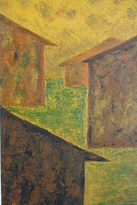 Houses Of 1954 Art Print by Biagio Civale