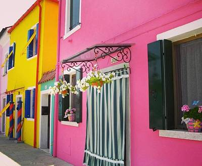Pink House Photograph - Houses Of Burano 8 by Happy Home Artistry