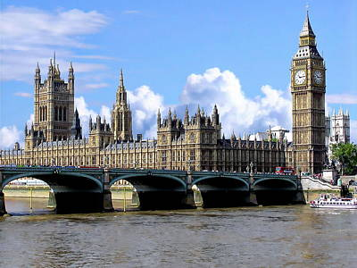 Photograph - Houses Of Parliament by Anthony Dezenzio