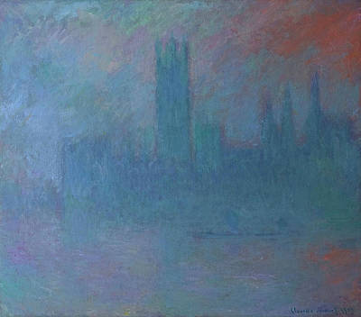 Parliament Wall Art - Painting - Houses Of Parliament In The Fog by Claude Monet