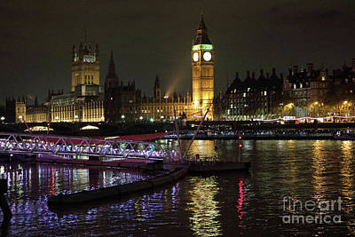 Photograph - Houses Of Parliament Reflected In The River Thames London by Julia Gavin