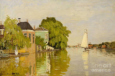 Houses On The Achterzaan, 1871  Art Print by Claude Monet