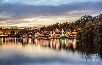Houses On The Water Art Print