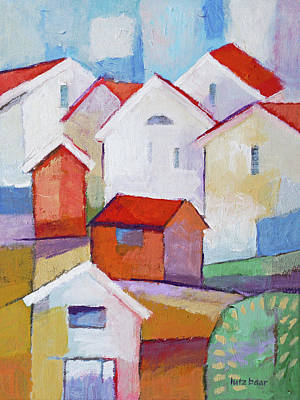 Painting - Houses Painting by Lutz Baar