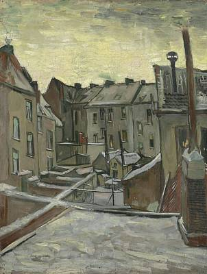 Painting - Houses Seen From The Back Antwerp, December 1885 - February 1886 Vincent Van Gogh 1853  1890 by Artistic Panda