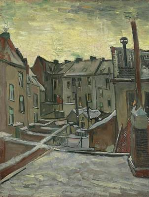 1890 Houses Painting - Houses Seen From The Back Antwerp by Vincent van Gogh