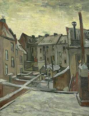 Houses Seen From The Back Print by Vincent van Gogh