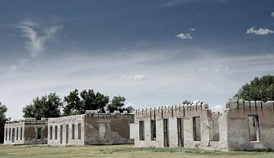 Photograph - Housing Ruins At Fort Laramie by Debra Martz
