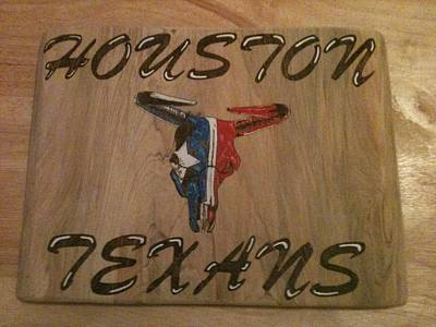 John Pitre Pyrography - Houstn Texans by John Pitre