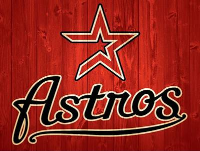 Athletes Royalty-Free and Rights-Managed Images - Houston Astros Barn Door by Dan Sproul