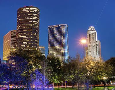Photograph - Houston Cityscape Skyline by Gregory Ballos