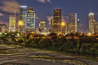 Houston Cityscape3 Art Print