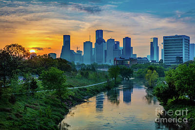 Houston Dawn Art Print by Inge Johnsson