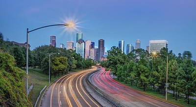 Houston Evening Cityscape Art Print