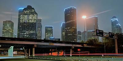 Photograph - Houston From Below by Frozen in Time Fine Art Photography
