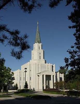 Photograph - Houston Lds Temple by Marie Leslie