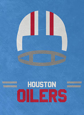 Mixed Media - Houston Oilers Vintage Art by Joe Hamilton
