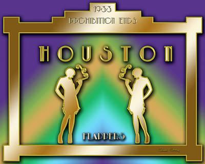 Digital Art - Houston Prohibition by Chuck Staley