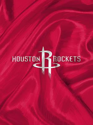 Uniforms Digital Art - Houston Rockets by Afterdarkness