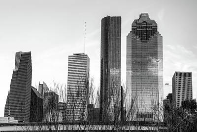 Photograph - Houston Skyline Contrasts by Gregory Ballos