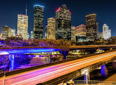 Photograph - Houston Skyline From I-45 by Andy Crawford