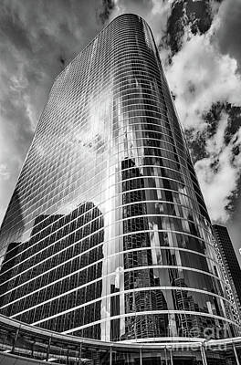 Houston Skyscraper In Black And White Print by Tod and Cynthia Grubbs
