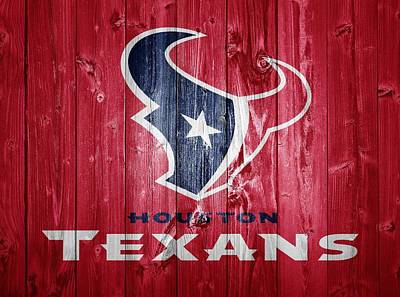 Houston Texans Barn Door Art Print by Dan Sproul