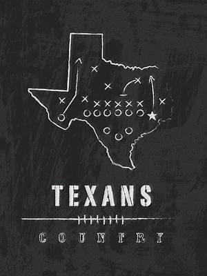 Houston Texans Art - Nfl Football Wall Print Art Print by Damon Gray