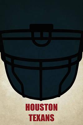 Painting - Houston Texans Helmet Art by Joe Hamilton