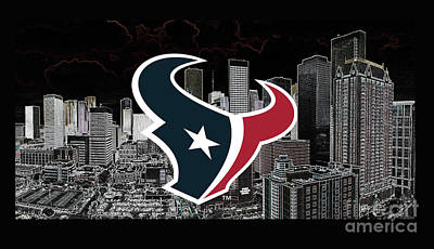 Digital Art - Houston Texans by Steven Parker