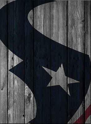 Photograph - Houston Texans Wood Fence by Joe Hamilton