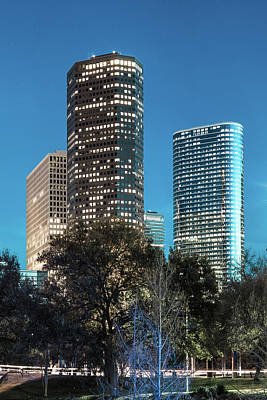 Photograph - Houston Texas Cityscape by Gregory Ballos
