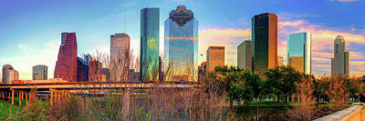Photograph - Houston Texas Downtown Skyline Panorama by Gregory Ballos